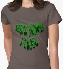 *Magick Brownies Please* Womens Fitted T-Shirt