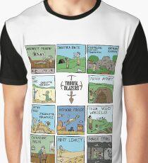 Raising Horizons TrowelToon WHITE Graphic T-Shirt