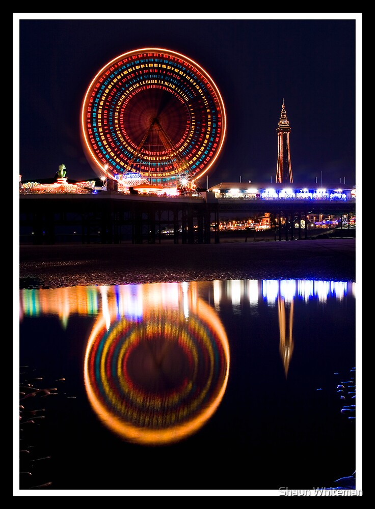 Blackpool at night by Shaun Whiteman