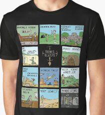 Raising Horizons TrowelToon BLACK Graphic T-Shirt