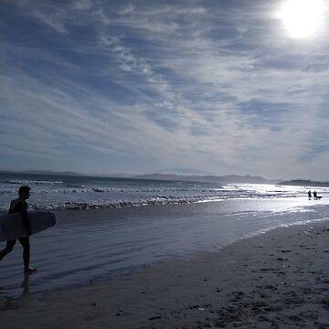 Dusk, Carlton Beach by pierredubrelle