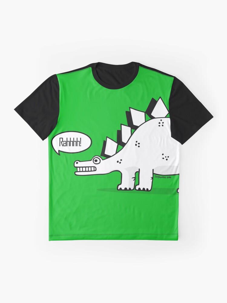 Alternate view of Cartoon Stegosaurus Graphic T-Shirt
