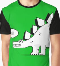 Cartoon Stegosaurus Graphic T-Shirt