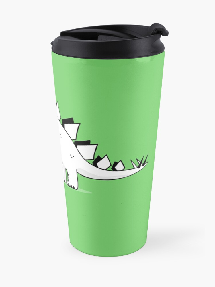 Alternate view of Cartoon Stegosaurus Travel Mug