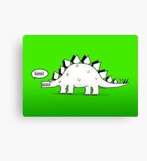 Cartoon Stegosaurus Canvas Print