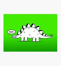 Cartoon Stegosaurus Photographic Print