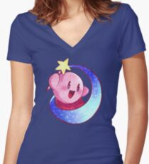 Kirby Women's Fitted V-Neck T-Shirt