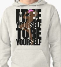 Free Yourself Fabulous Man Pullover Hoodie