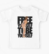 Free Yourself Tentative Woman Kids Tee
