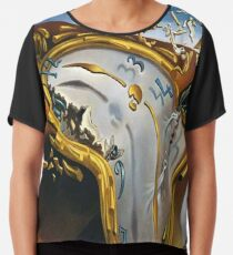 Melting Watch(Soft Watch at the Moment of First Explosion)-Salvador Dali Chiffon Top