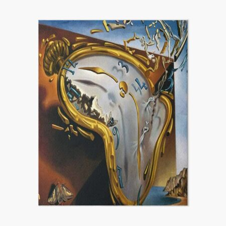 Melting Watch(Soft Watch at the Moment of First Explosion)-Salvador Dali Art Board Print