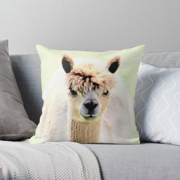 Sweet alpaca Throw Pillow