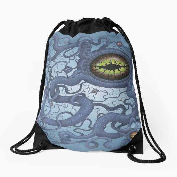 Neural Net Drawstring Bag