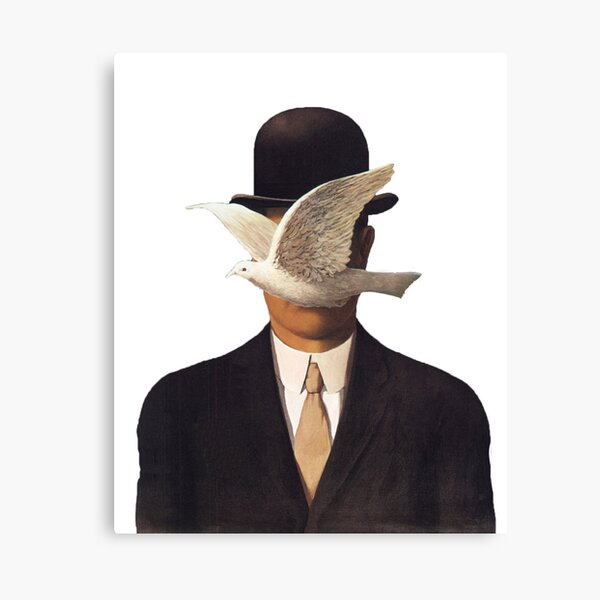 Rene Magritte Mania Canvas Print