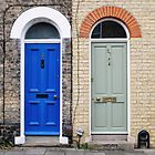 Blue and green doors by Ana Andres-Arroyo
