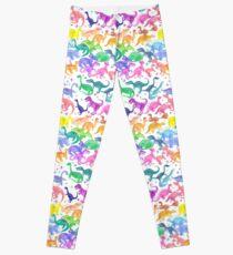 Roarsome Rainbow Dinosaur Alphabet Leggings