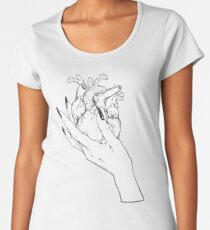 Realistic Heart in Hand Women's Premium T-Shirt