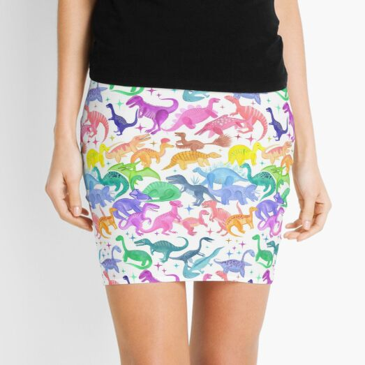 Roarsome Rainbow Dinosaur Alphabet Mini Skirt