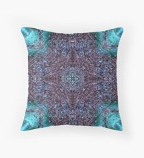 Purple Blue Crystal Cross Pattern Throw Pillow