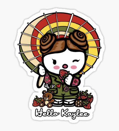 Hello Kaylee Winks Sticker