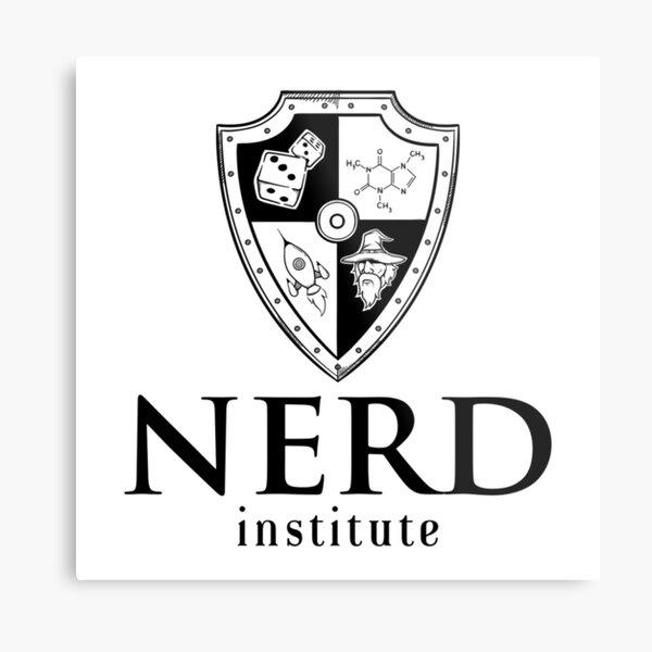 Nerd Institute Metal Print