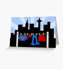 Super Laundry Greeting Card