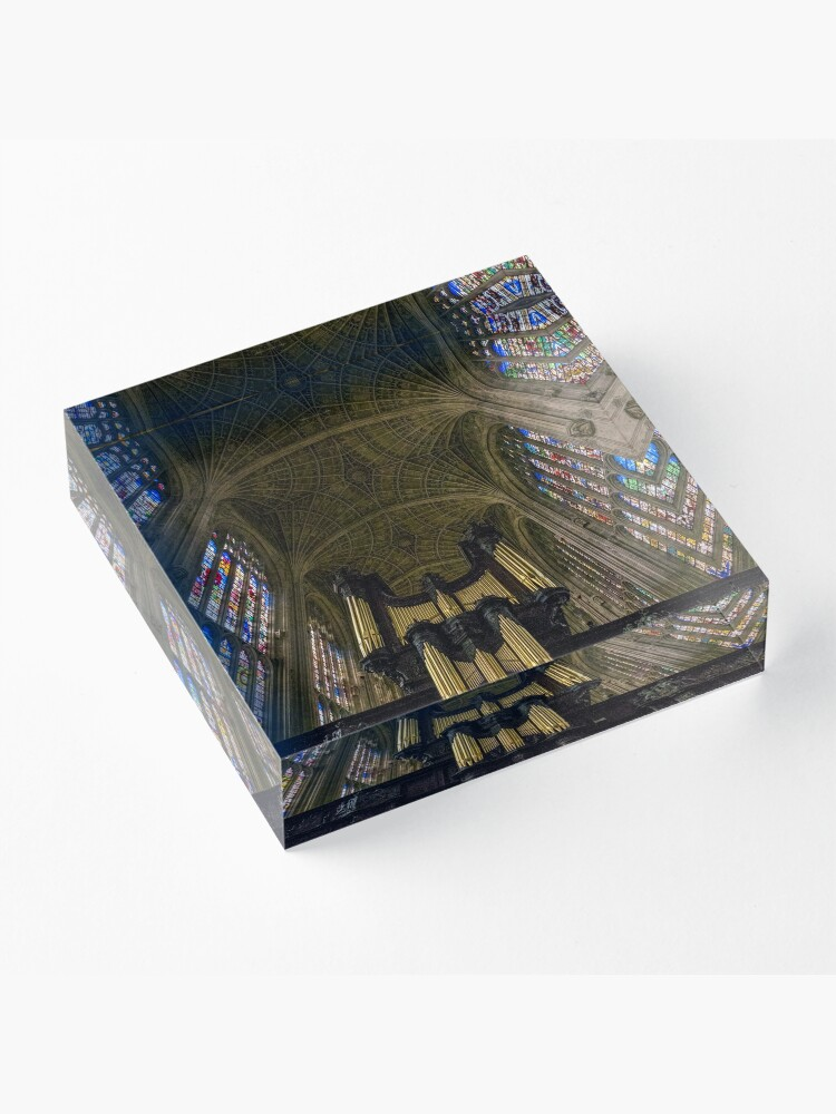 Alternate view of King's College Chapel Acrylic Block