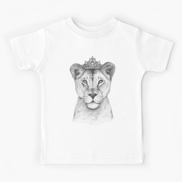 The Queen on black Kids T-Shirt