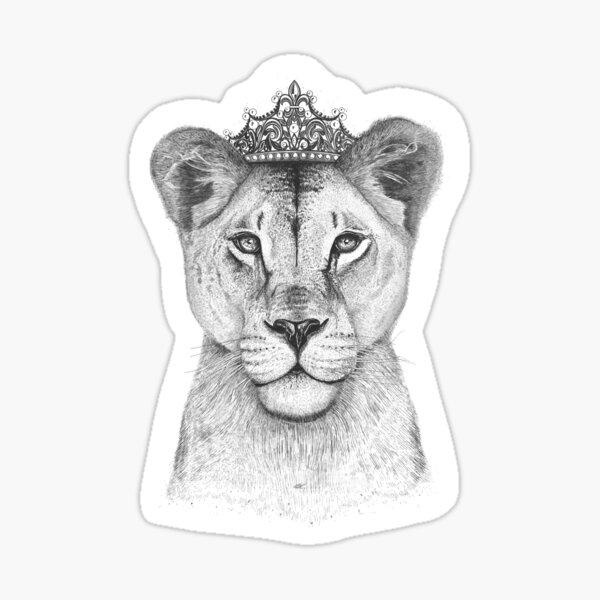 The Queen on black Sticker