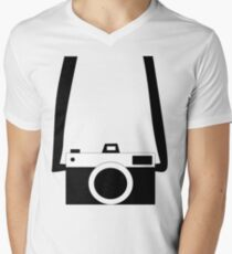 Black and White Camera  Men's V-Neck T-Shirt