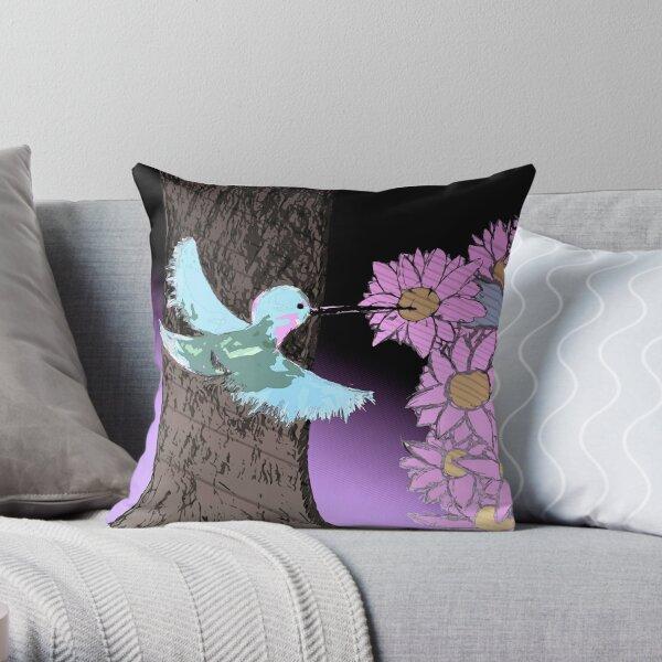 Humming Bird by Dre Throw Pillow