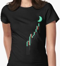 To the MOON Women's Fitted T-Shirt