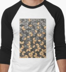 Concrete and Wood Cubes Baseball ¾ Sleeve T-Shirt