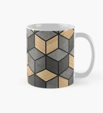 Concrete and Wood Cubes Mug