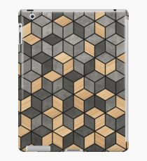Concrete and Wood Cubes iPad Case/Skin