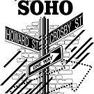 SoHo New York - Schwarz auf Weiß von XOOXOO