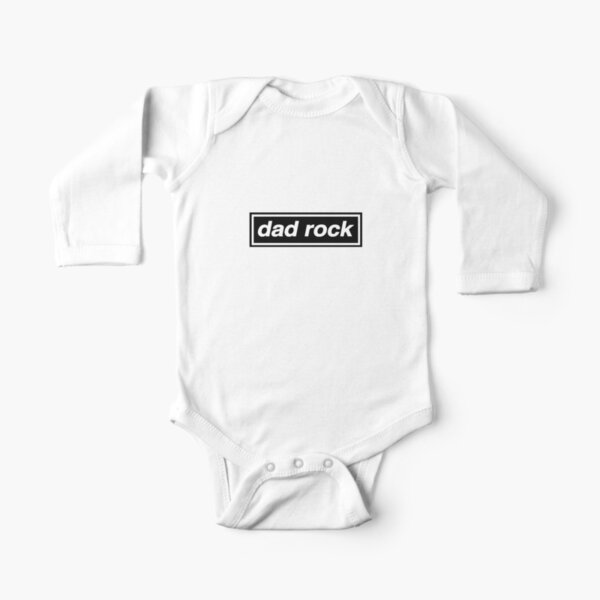 Dad Rock - OASIS Band Tribute - MADE IN THE 90s Long Sleeve Baby One-Piece