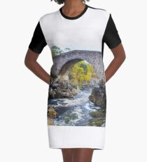 Little Garve Bridge Graphic T-Shirt Dress
