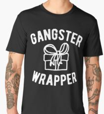 Gangster Wrapper Funny Christmas Men's Premium T-Shirt