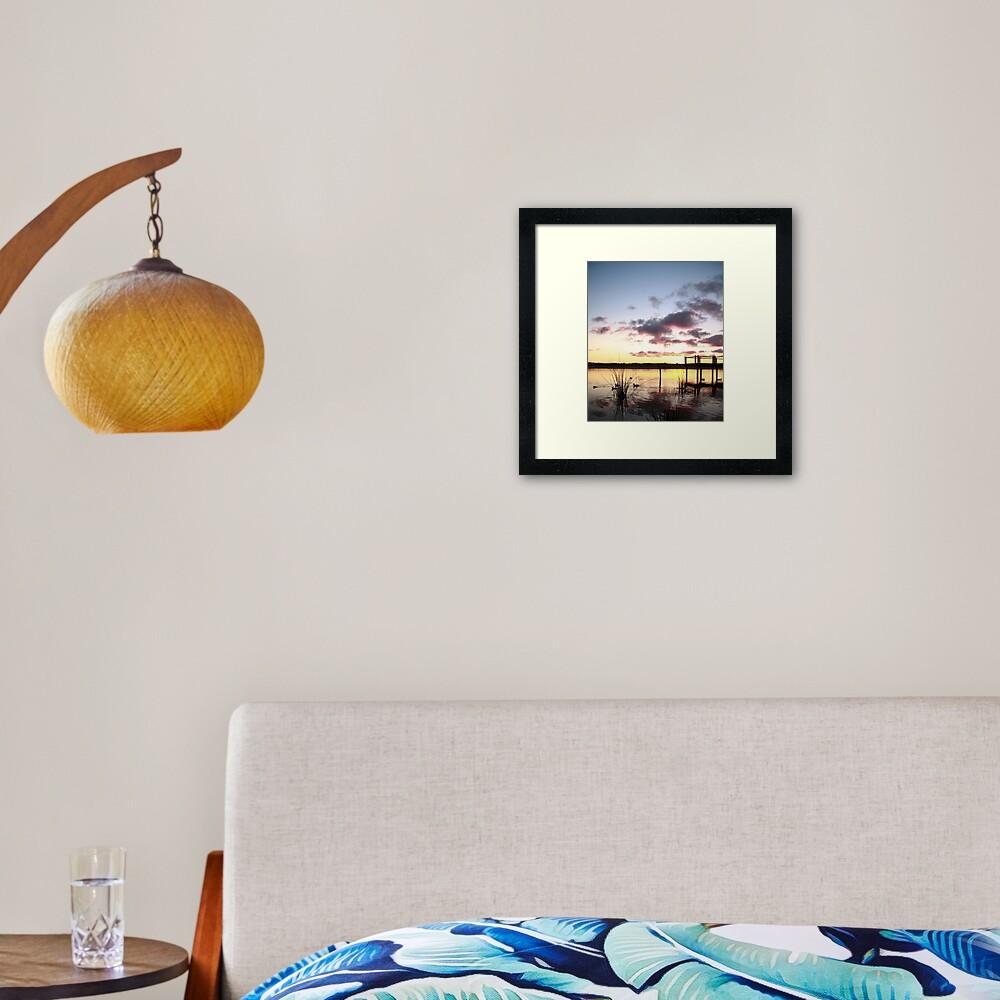 Sunrise over Lake Joondalup Framed Art Print