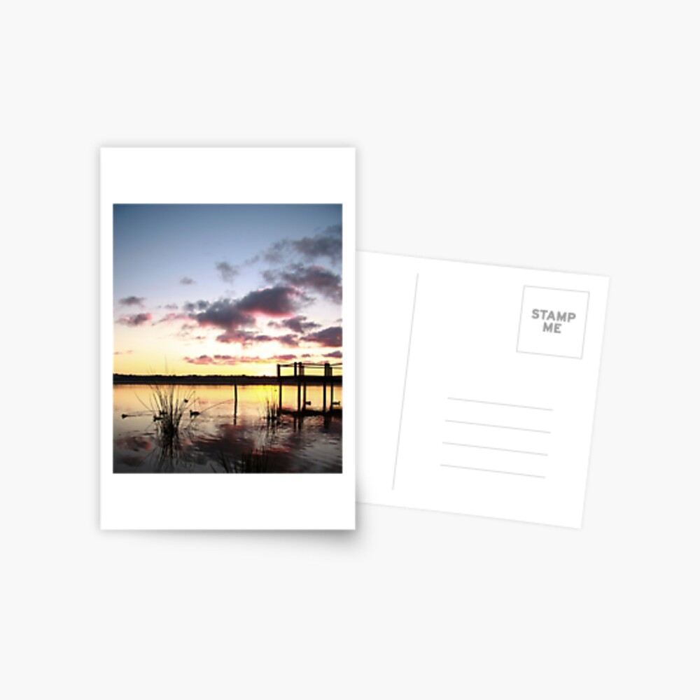 Sunrise over Lake Joondalup Postcard