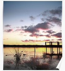 Sunrise over Lake Joondalup Poster