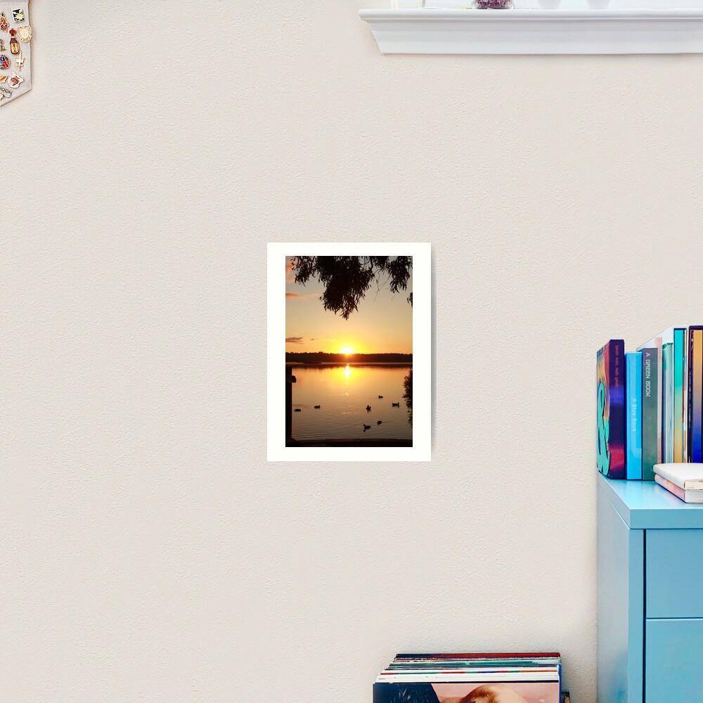 Sunrise over Lake Joondalup Art Print