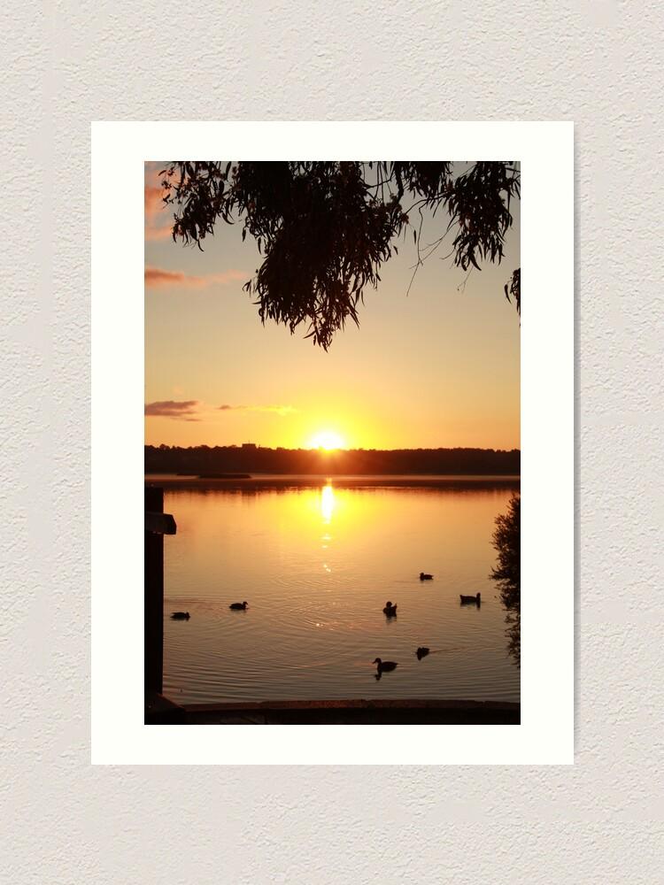Alternate view of Sunrise over Lake Joondalup Art Print