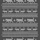 Ugly Christmas sweater dog edition - Lapponian herder - Lapinporokoira by Camilla Mikaela Häggblom
