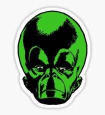 Big Green Mekon Head  Sticker