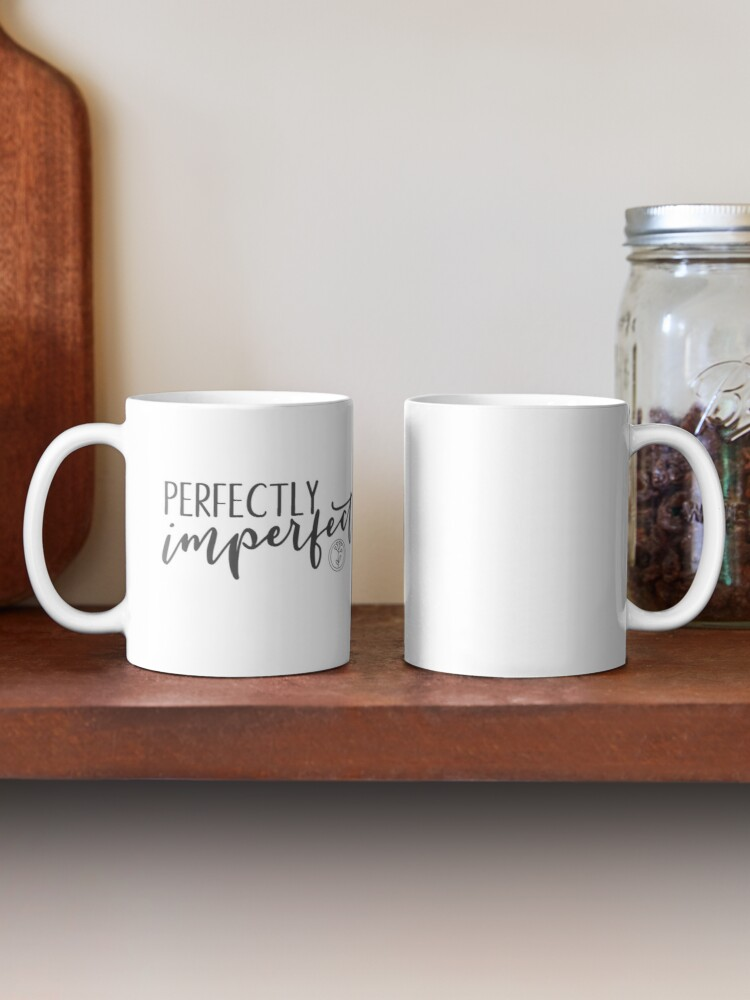 Alternate view of Perfectly Imperfect - Charcoal Gray Mug