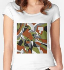 Fragmented Wilderness  Women's Fitted Scoop T-Shirt