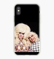 Trixie and katya cute black  iPhone Case