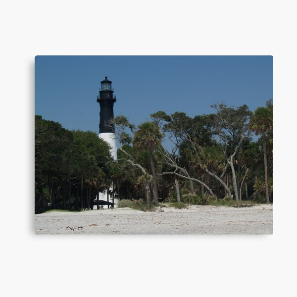 Hunting Island Lighthouse from Beach Canvas Print